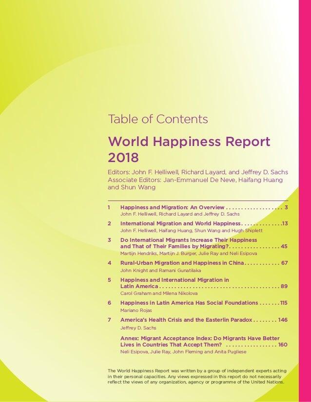 World Happiness Report- 2018 Slide 3