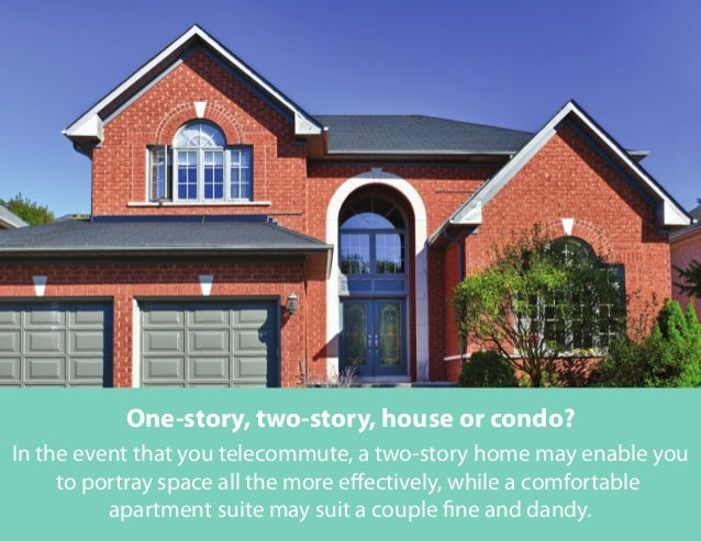 In the event that you telecommute, a two-story home may enable you to portray space all the more effectively, while a comf...