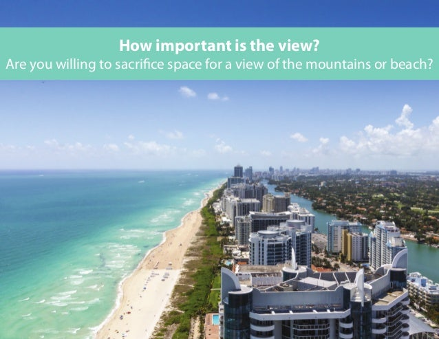 Are you willing to sacrifice space for a view of the mountains or beach? How important is the view?