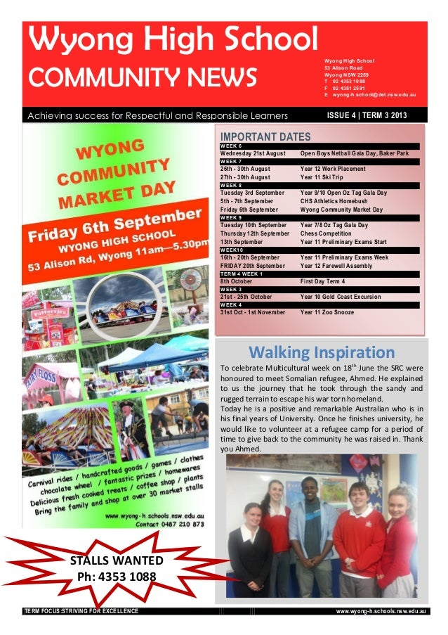 Wyong High School Newsletter