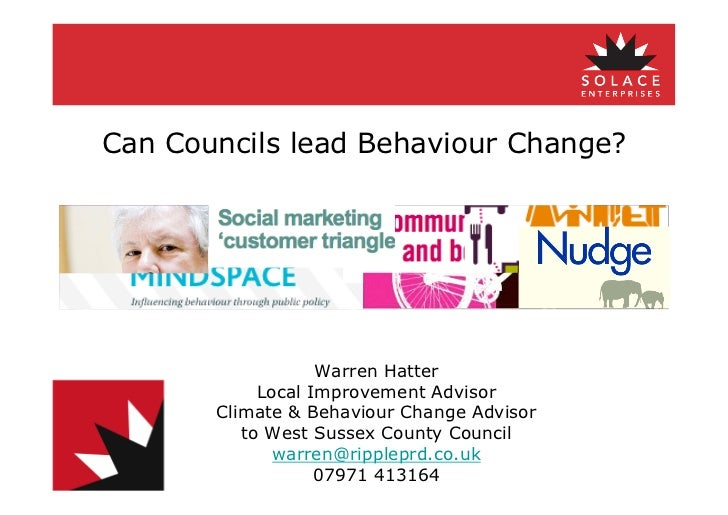 Can Councils Lead Behaviour Change?