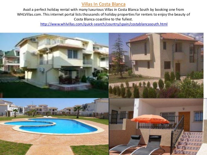 Villas In Costa BlancaAvail a perfect holiday rental with many luxurious Villas in Costa Blanca South by booking one from ...