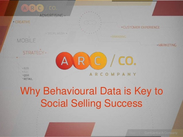 Confidential ArCompany Inc. — February 19, Slide · 1 Confidential ArCompanySlide · 1 Why Behavioural Data is Key to Social...
