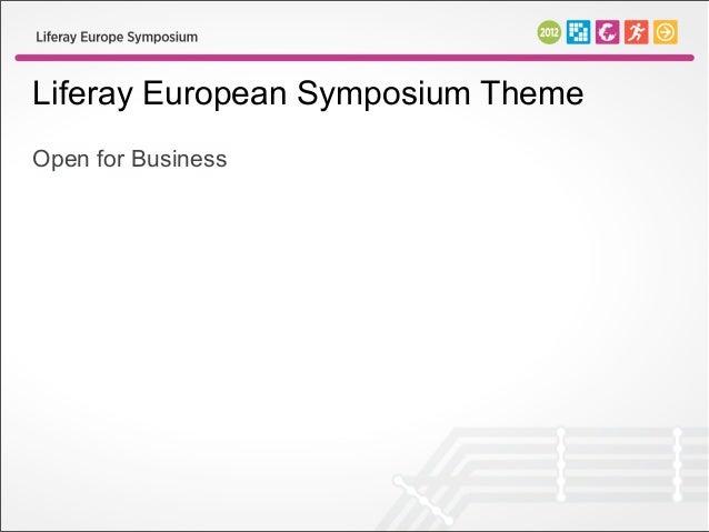 Liferay European Symposium ThemeOpen for Business