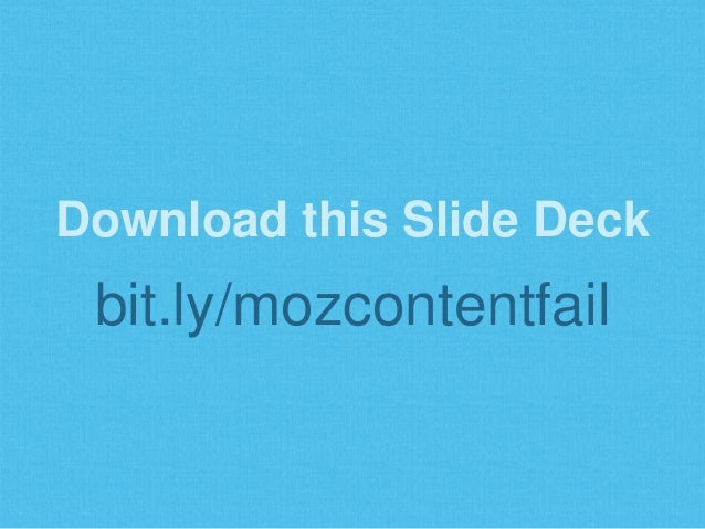 Why Content Marketing Fails Slide 2