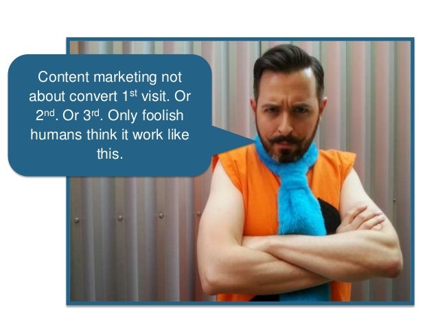 Content marketing not about convert 1st visit. Or 2nd. Or 3rd. Only foolish humans think it work like this.