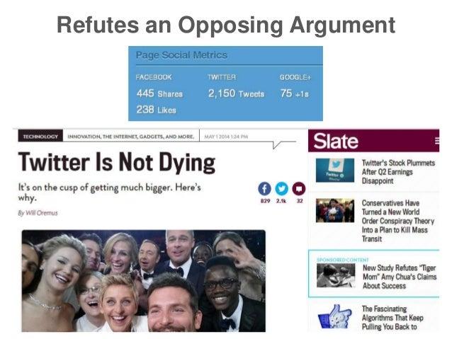 Refutes an Opposing Argument
