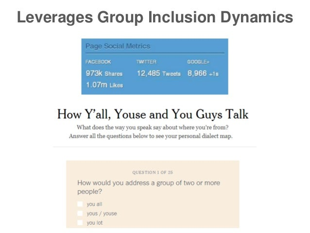 Leverages Group Inclusion Dynamics