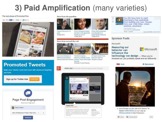 3) Paid Amplification (many varieties)