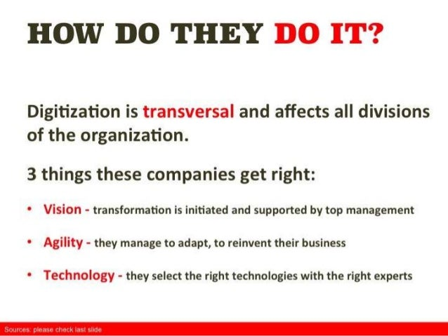 Why digitization is now