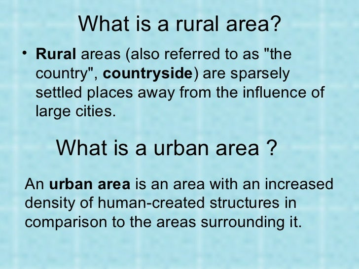 why do people migrate from rural areas to urban areas
