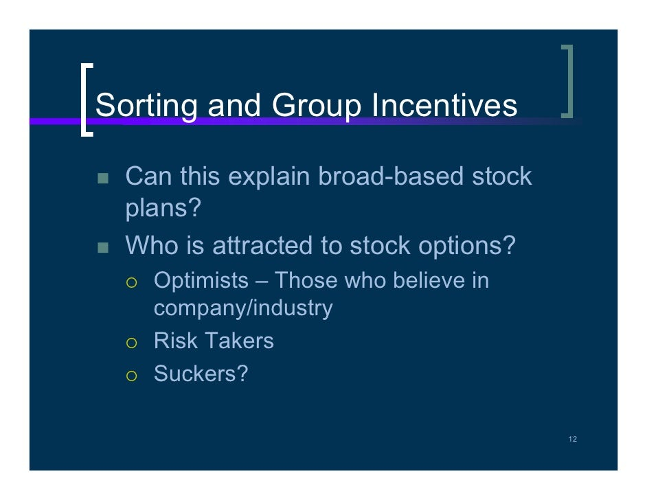 Why use incentive stock options