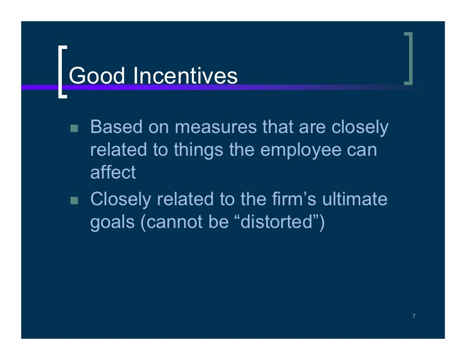 Problem with using stock options as incentives