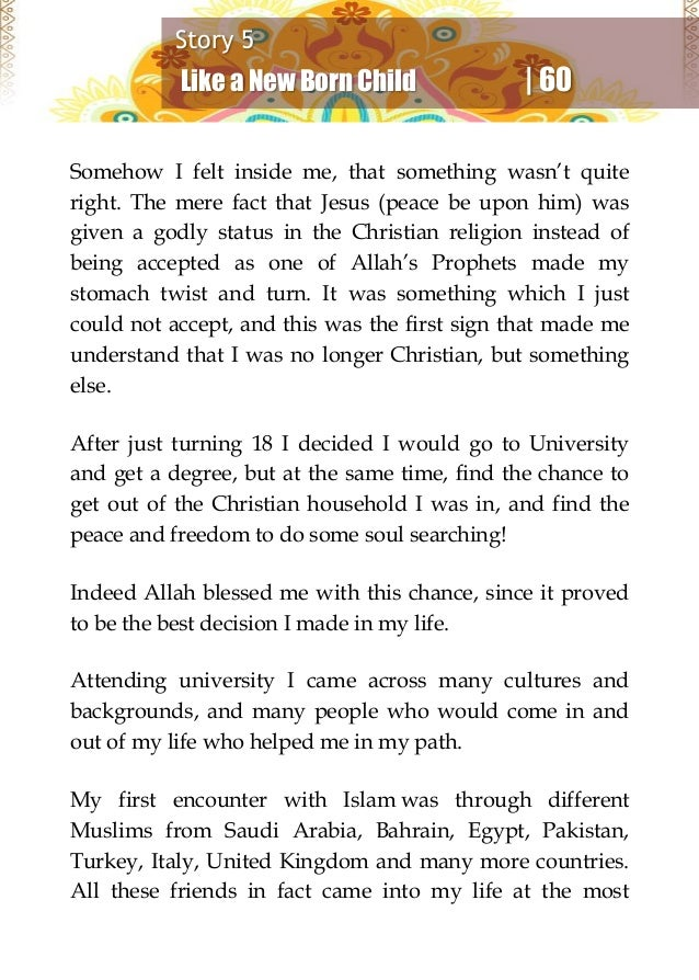 why i chose islam February 1st marks annual world hijab day (whd) in recognition of millions of  muslim women who choose to wear the hijab and live a life of.