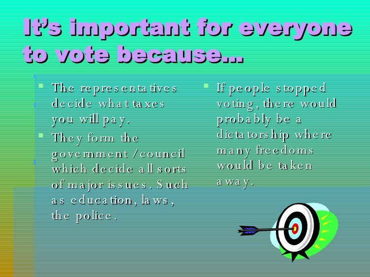 why is voting an important responsibility