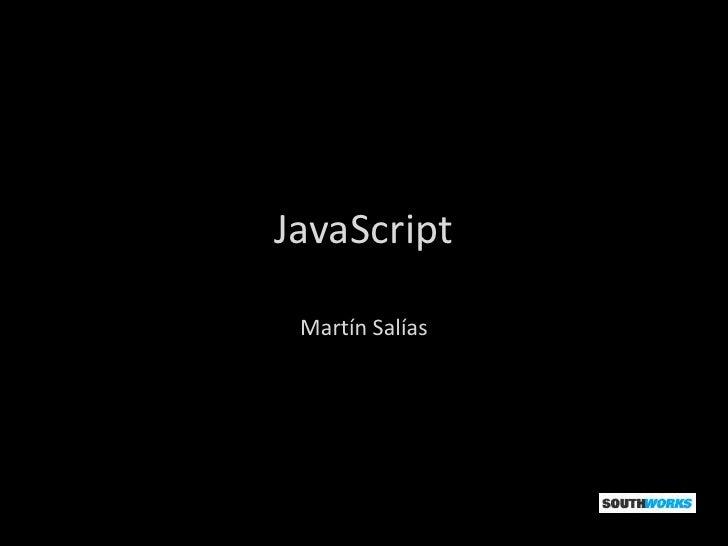 JavaScript Martín Salías