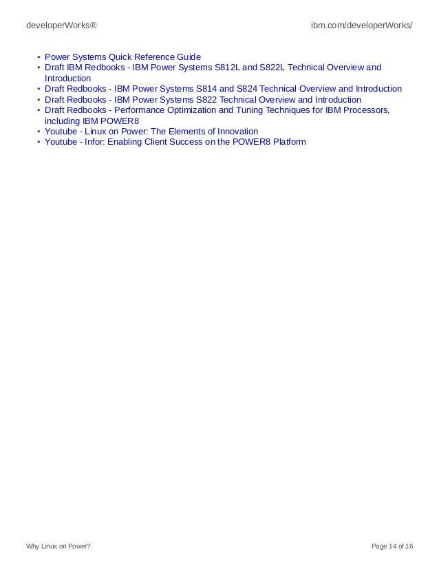5934e3c4a Resources • IBM POWER8 systems facts and features  14.