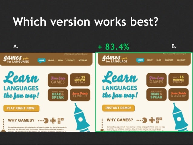Which version works best? A. B.+ 83.4%