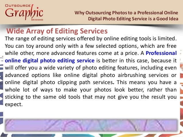 Digital photo editing services spamming