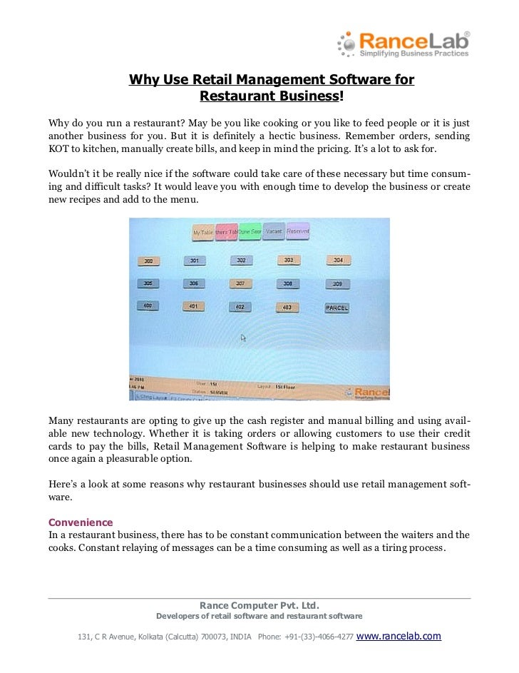 Why Use Retail Management Software for                            Restaurant Business!Why do you run a restaurant? May be ...