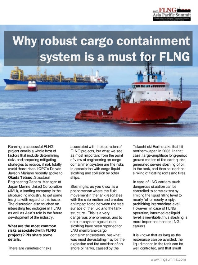 Why robust cargo containment system is a must for FLNG  Running a successful FLNG project entails a whole host of factors ...