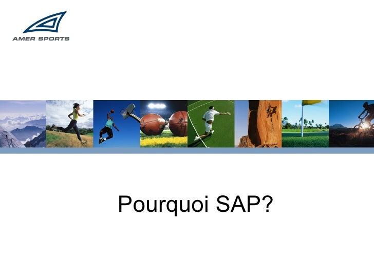 Pourquoi SAP?