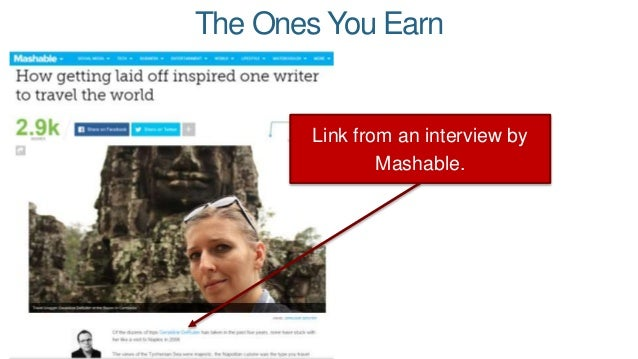 Granted, the anchor text is a little weird, but it's still a great link! The Ones You Earn