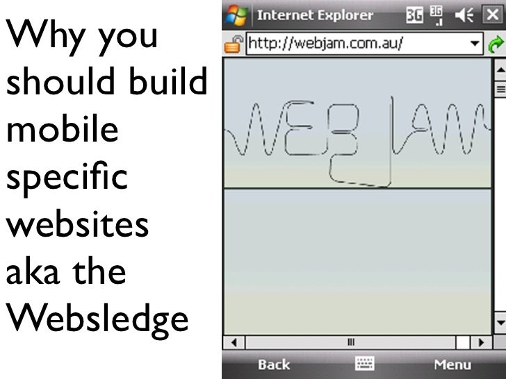 Why you should build mobile specific websites aka the Websledge