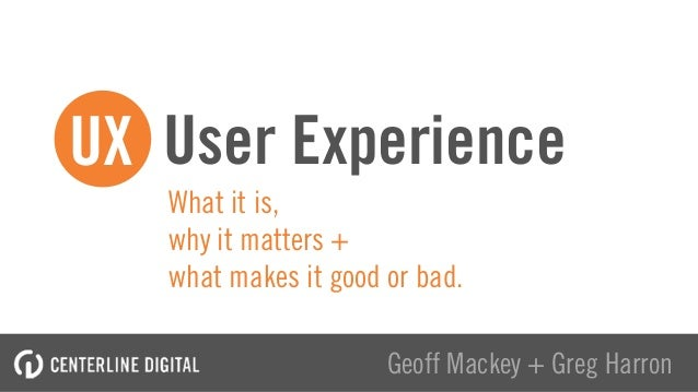 What it is, 