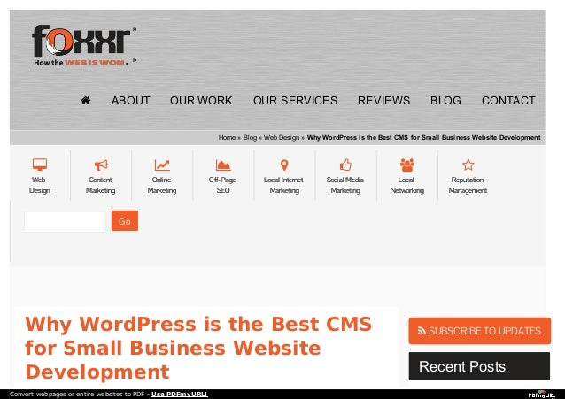 Why WordPress is the Best CMS for Small Business Website
