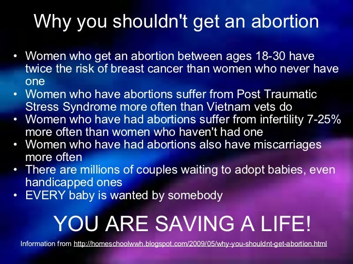 abortion should be illegal 3 If abortion is murder, then women who have them are criminals—right  the  truth, saying that if abortion were illegal, women should be punished  know the  truth is that a fertilized egg is not the same as a 3-year-old, and.