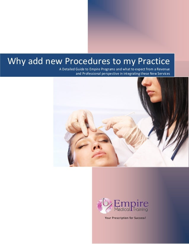 Your Prescription for Success!      Why add new Procedures to my Practice A Detailed Guide to Empire ...