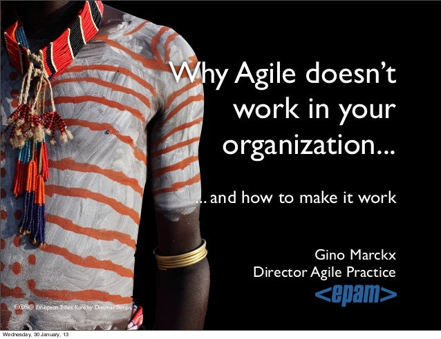 Why Agile doesn't work in your organization... Gino Marckx Director Agile Practice ... and how to make it work cbna Ethiop...