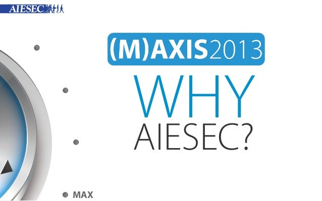 WHY AIESEC? MAX