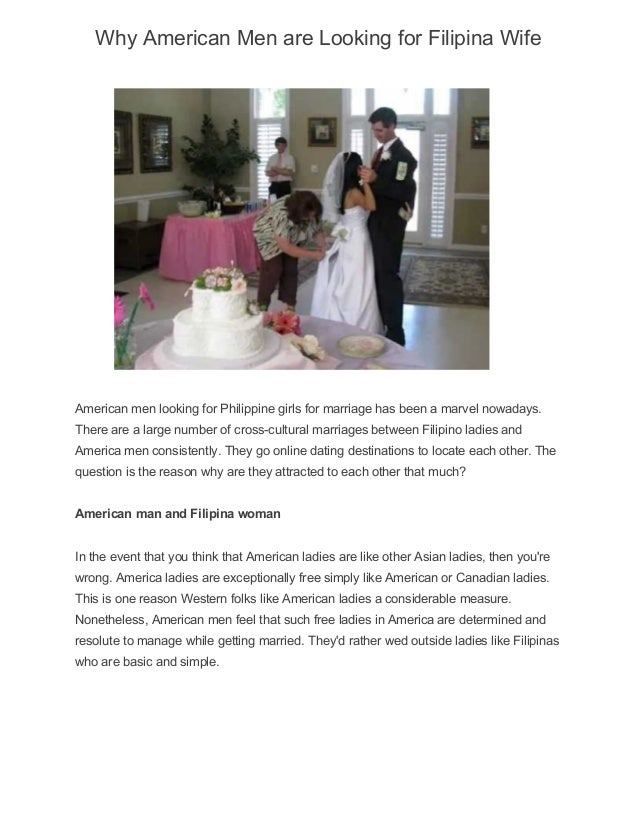Why american men are looking for filipina wife