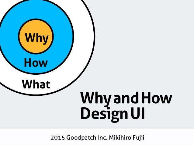 How What Why WhyandHow DesignUI 2015 Goodpatch Inc. Mikihiro Fujii