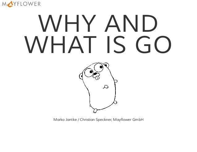 WHY AND WHAT IS GO Marko Jantke / Christian Speckner, Mayflower GmbH