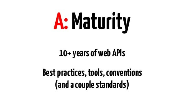 A:Criticality APIs matter more now Alotmore…