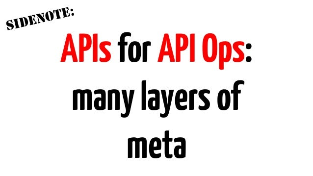 APIOps: Design,build,testandrelease APIs morerapidly, frequently andreliably