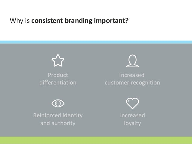 Why is consistent branding important? Product differentiation Increased customer recognition Reinforced identity and autho...