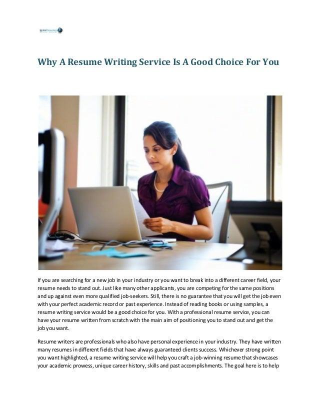Good resume writing service