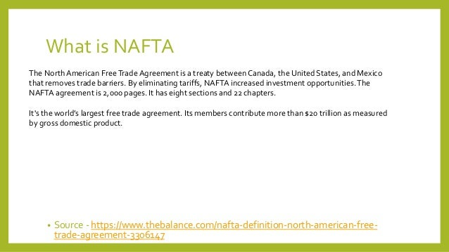 nafta canada essay Nafta: north american free trade agreement and free trade essay 1944, the north american free trade agreement between the us, mexico and canada was formed nafta is the world's largest free trade area which consist of 450 million workers.