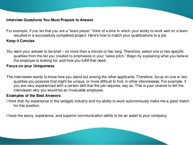 3 interview questions you - Are You A Tram Player Ability To Work In A Team