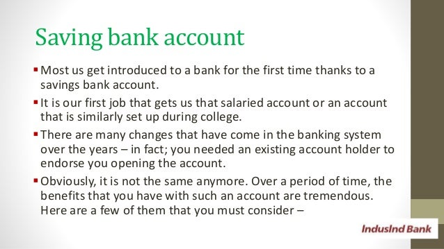 Savings bank accounts