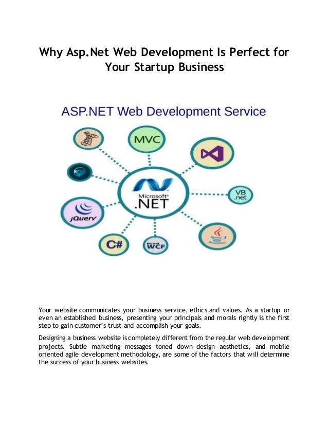 Why Asp.Net Web Development Is Perfect for Your Startup Business Your website communicates your business service, ethics a...