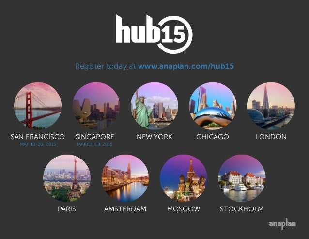 Why Attend Anaplan Hub 2015