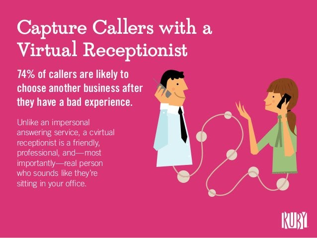 Capture Callers with a Virtual Receptionist 74% of callers are likely to choose another business after they have a bad exp...