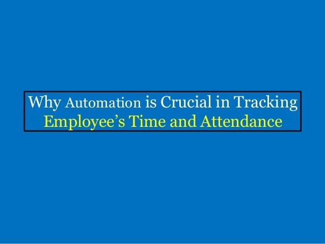 time and attendance tracking