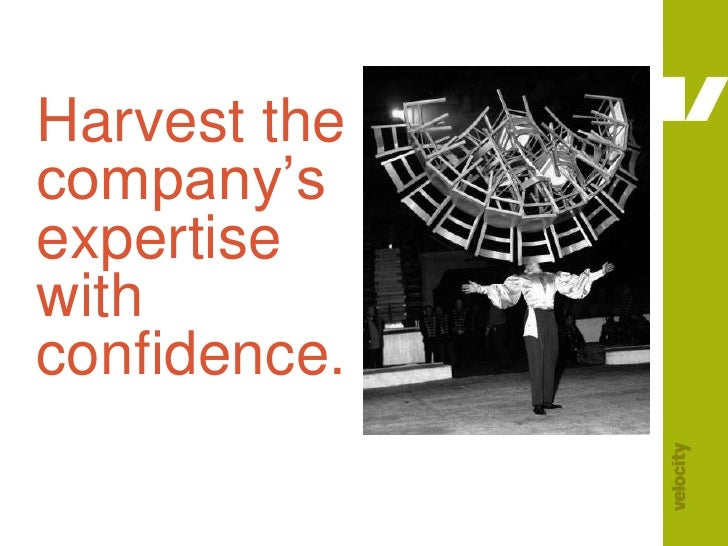 Harvest the company's expertise with confidence.<br />