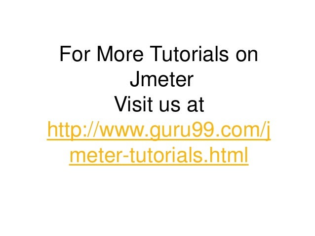 Introduction to Jmeter